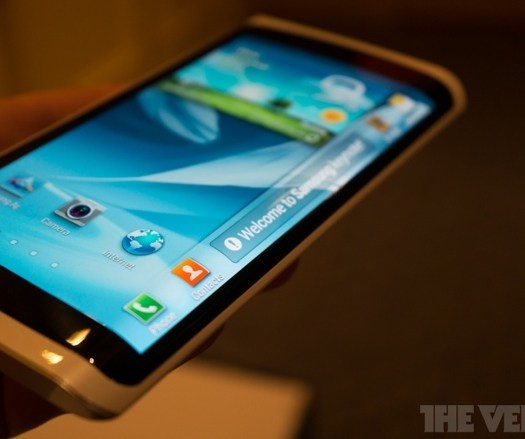 samsung curved display smartphone