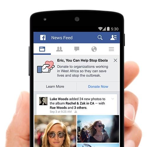 Facebook, Ebola