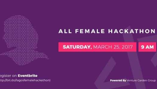 Go code-girl! It's a girls only hackathon!