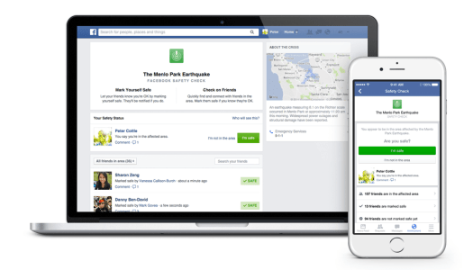 Facebook's safety check now includes fundraisers and status updates