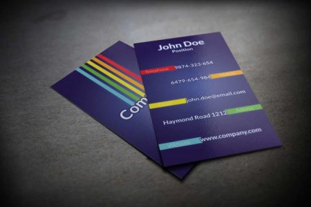 130  Best Free PSD Business Card Templates   TechClient Colorful Business Card PSD Template
