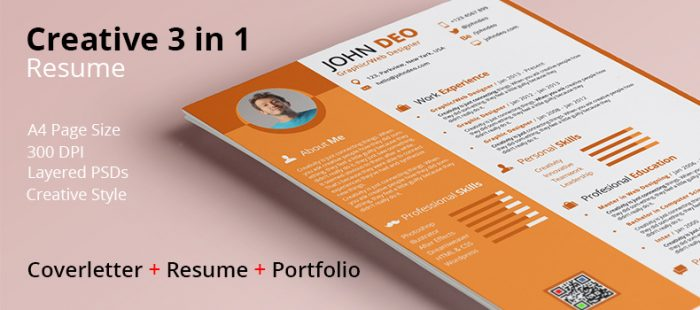 Creative 3 in 1 Resume