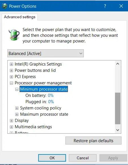 minimum Processor State