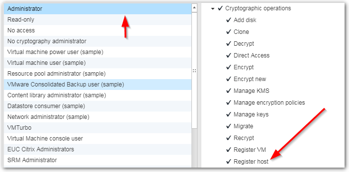 ESXi Host Encryption: Register Host