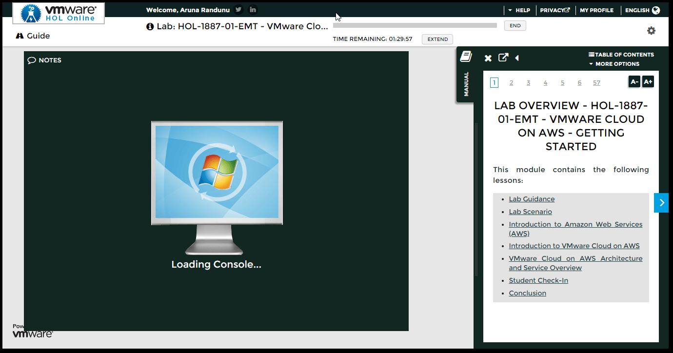 VMware Cloud on AWS HOL