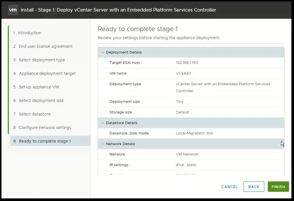 vCenter Server 6.7 : Summary