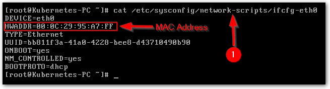 Cloned Linux Virtual Machine doesn't connecting to the Network : MAC Address
