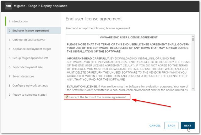 Migrate Windows Based vCenter Server to VCSA 6.7 : Terms