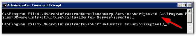 Reset vCenter Inventory Service Database : Change Directory again