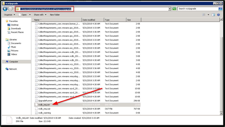 Source vCenter Server Schema validation found an issue : Location