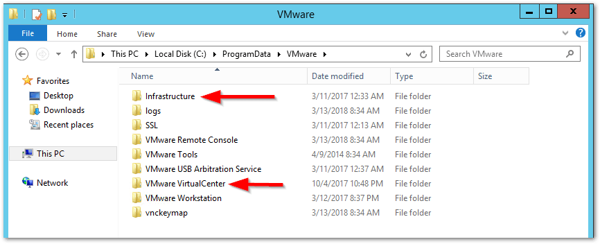 distributed Windows based vCenter Server 5.5 to an embedded VCSA 6.5 : Rename Folders