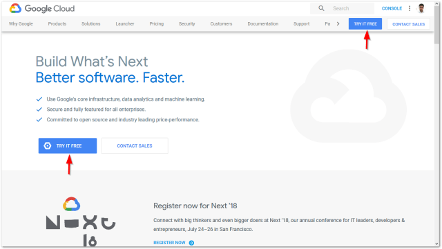 started with Google Cloud Platform : Try it Free