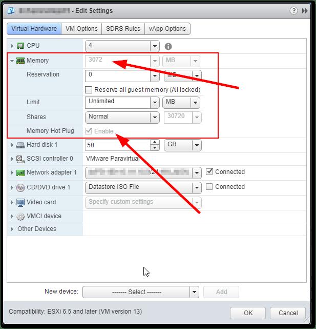 Unable To Add More Than 3 GB RAM : Virtual Machine Settings