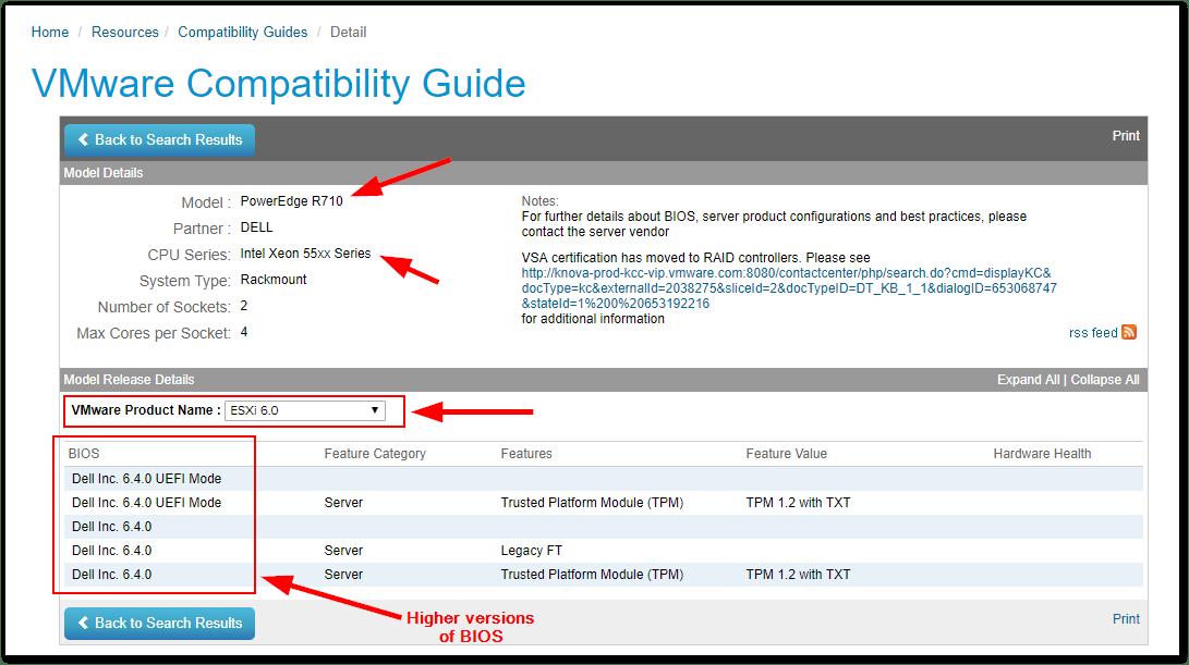 ESXi Compatibility Checker : HCL Check