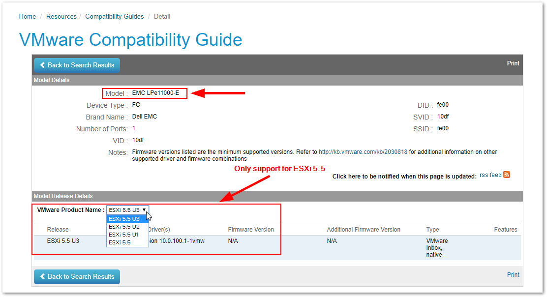 ESXi Compatibility Checker : Generated Link
