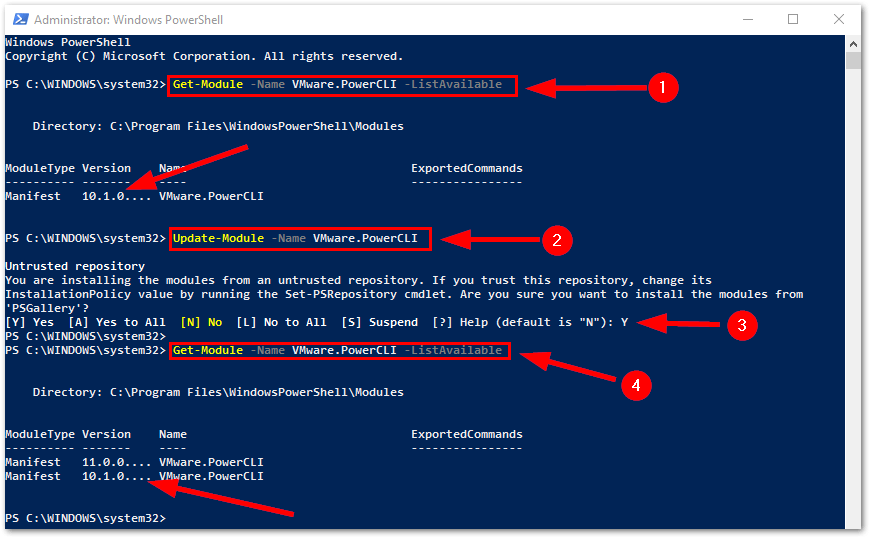 PowerCLI 11.0.0 Released : View Running Version and Update