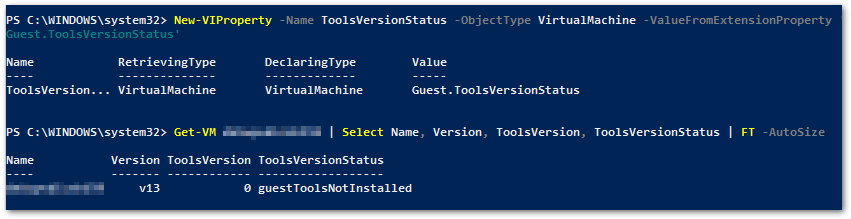 VMware Tools 10.3.0 : with tools status