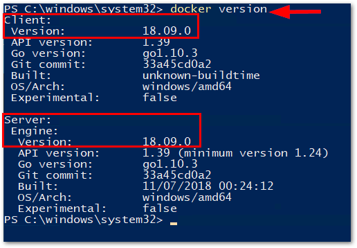 Windows Server 2019 Generally Available: Docker Server and Client Versions