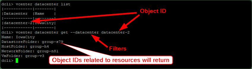 Datacenter CLI (DCLI) : Filter output