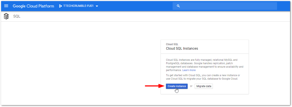 GCP MySQL and PostgreSQL High Availability : Create MySQL