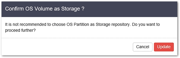 Vembu BDR v4 : OS partition warning