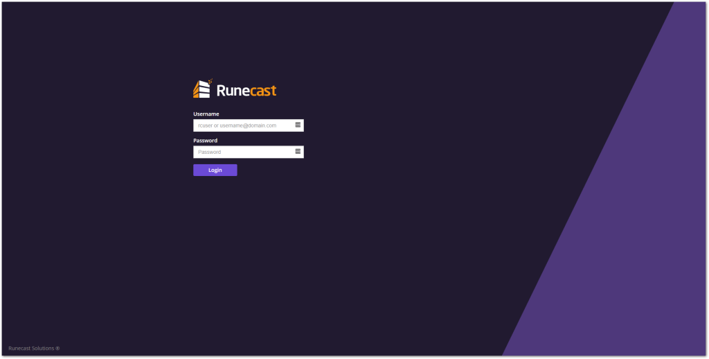 Runecast Analyzer Added VMware HCL Support :  Login