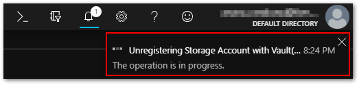 Vault Cannot Be Deleted As There Are Existing Resources : Progress