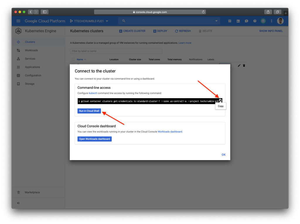 Kubernetes Engine POD Security Policies : Connect to shell