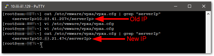 Change The vCenter Server Appliance IP Address verify again