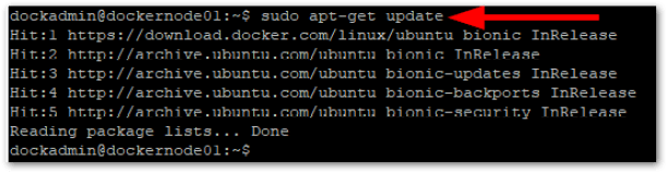 Docker CE On Ubuntu update