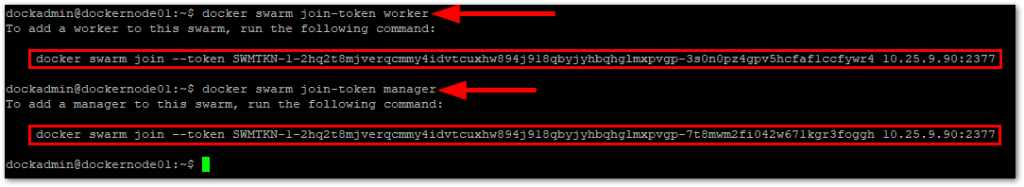 Docker CE On Ubuntu join tokens
