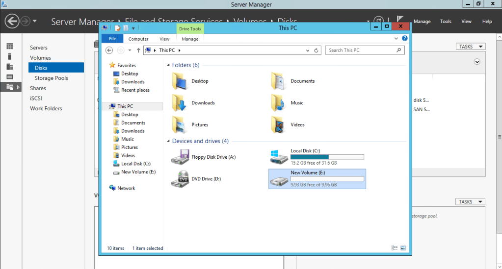 VMware vSAN iSCSI Target Service Added Disk