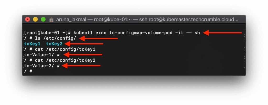 Configure Kubernetes PODs To Use ConfigMap view mount volumes