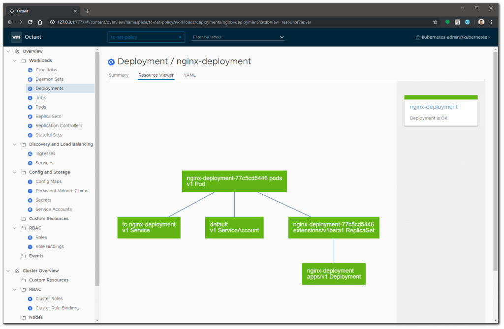 VMware Octant resource viewer