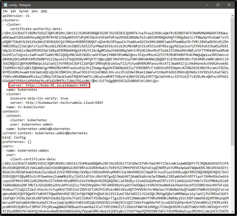 install kubectl on Windows server address