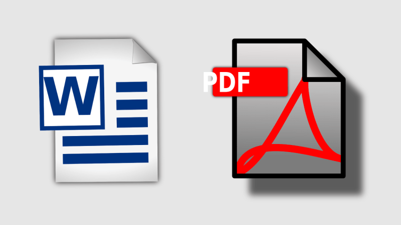 PDF Vs. Word