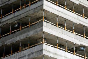A concrete building under construction