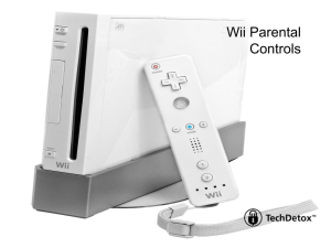 Wii parental controls