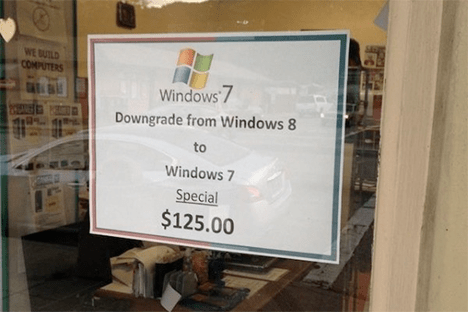 """Now all of these other suggestions have been a bit of fun - but what if you want to <em>really</em> experience true fear? Then try switching to a Windows 8 computer.</p> <p>No cheating – no dual booting with Linux, no downgrading to Windows 7, no throwing it """" src=""""//www.techdigest.tv/gallery/2013/10/5_techie_ways_t/windows8.png"""" width=""""450″ height=""""253″ class=""""mt-image-center"""" style=""""text-align: center; display: block; margin: 0 auto 20px;"""" /></p> <p>Ah – here's the other thing. Remember when Apple announced that their latest version of MacOS, Mavericks, would be free to download? Microsoft do, and a shiver runs down their spine at the very mention of it. For Microsoft, selling operating systems is lucrative business – not only selling them for £100 a time to individual customers, but licensing Windows to big corporations was their cash cow for many years.<br /> Unfortunately, Apple's shift means that people will be asking """"Why?"""" when asked to pay for the next version of Windows. Signs point towards Microsoft relenting and going along with the free model too – Windows 8.1, which was released recently was published as a free download. Which is great if you want lots of people to download it – but not so much if you want to make money.</p> <p>There are longer term benefits on doing it this way though. By preventing fragmentation and ensuring as many people are running the latest versions of the operation system, it should boost compatibility with newer kit, and also make it easier for developers, who rather than having to make sure their latest app works with an ancient version of Windows, can rest assured that a high proportion of users will be up to date.</p> <p>For Nadella, figuring out which route to go down is going to be important. It's a question of sacrificing revenue for improving the Microsoft ecosystem.</p> <p><strong>Stop people hating Windows 8</strong></p> <p><img alt="""