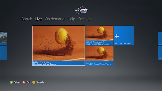 Xbox 360 dashboard now has a Eurosport Player app - Tech Digest