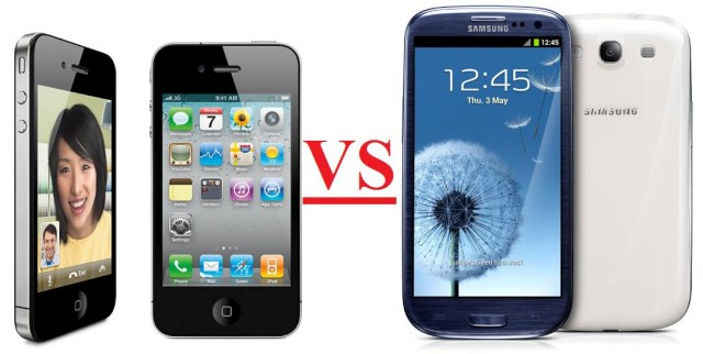 samsung s3 vs iphone 4