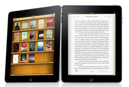 iPad running iBook