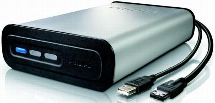 Philips SPD5130 1 terabyte 1 TB eSATA USB external hard drive