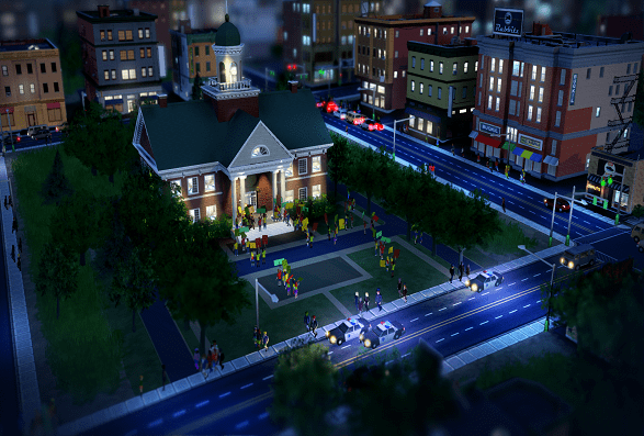 simcity-CityHallProtest_1.png