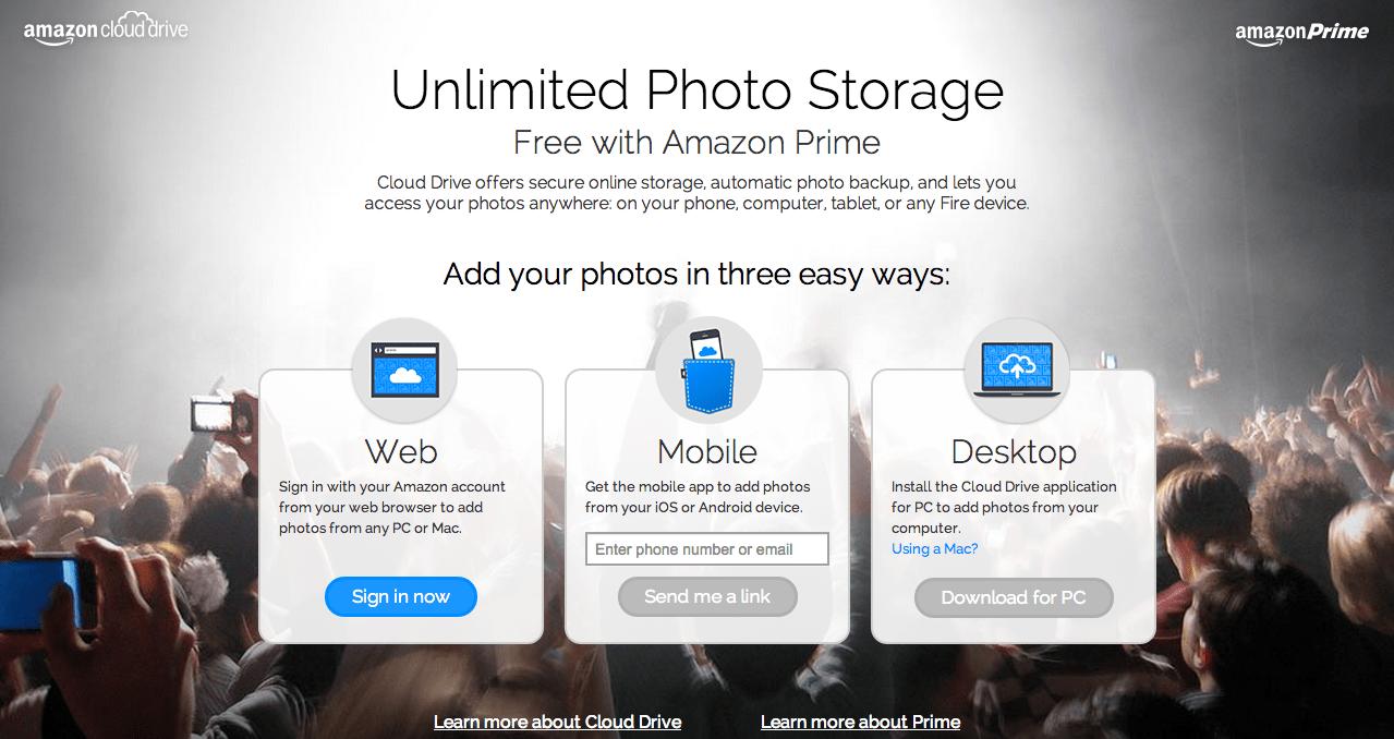 amazon prime picture storage app