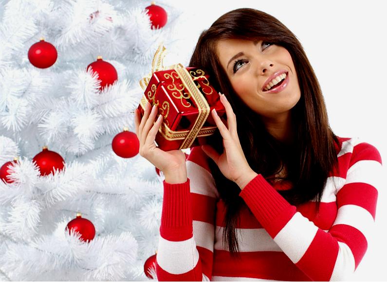 woman-with-christmas-gift