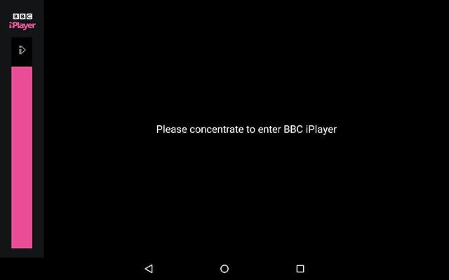 A very simple iPlayer interface. Just concentrate!
