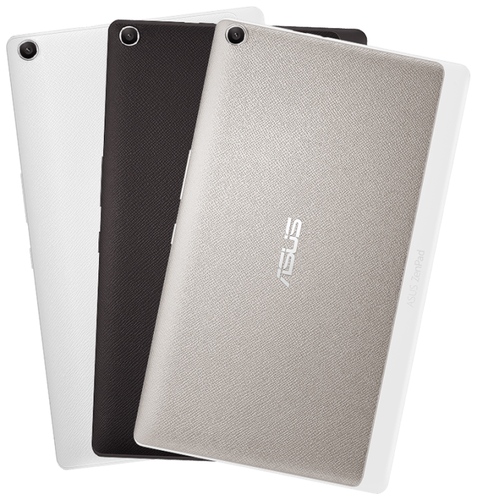 The ASUS Zen Pad comes with different coloured clip on backs including black, white and metallic
