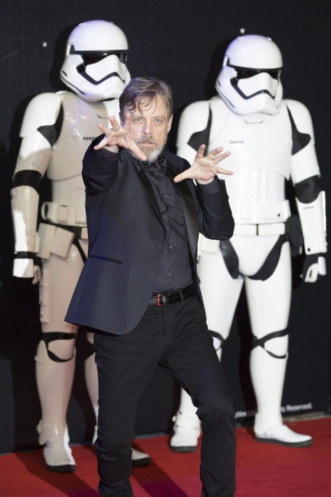 LONDON, UK - DECEMBER 16: Actor Mark Hamill attends the European Premiere of the highly anticipated Star Wars: The Force Awakens in London on December 16, 2015.