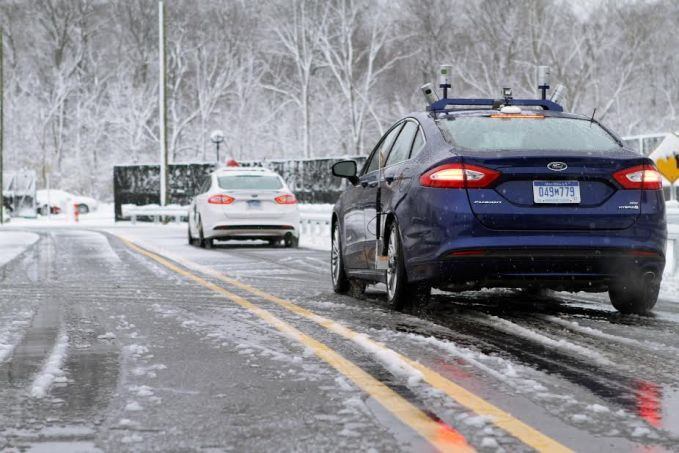 To navigate snowy roads, Ford autonomous vehicles are equipped with high-resolution 3D maps – complete with information about the road and what's above it, including road markings, signs, geography, landmarks and topography.